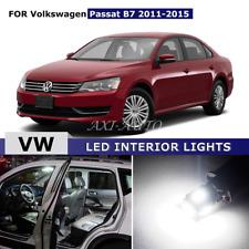 11x Error Free White Interior LED Lights Package Kit for 2011-2015 VW Passat B7