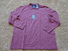 CHAPS men's NWT sz XXL burgundy colored long sleeve golf/work polo shirt