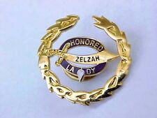 Vintage SHRINER HONORED ZELZA LADY Pin / Excellent Condition 1""