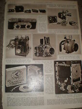 Photo article upcoming British Photographic Equipment Exhibition 1955 ref Z