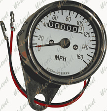 Speedo 60mm 2:1 MPH White face with Chrome Body Motorcycle Speedometer BC18501 T