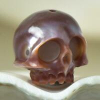 11.63 mm Human Skull Bead Carving Kasumi-like Freshwater Pearl 2.04 g drilled