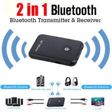 Bluetooth Receiver Transmitter Stereo Audio Adapter for TV Speaker HIFI 3.5mm UK