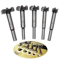 5 Pcs 15-35mm Forstner Drill Bits Hinge Hole Cutter Wood Working Hole Saw MA
