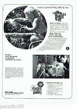 PUBLICITE ADVERTISING 116  1966   la caméra  Paillard Bolex  H16 Reflex projecte