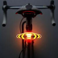 Bicicletta  LED USB senza fili Telecomando indicatore direzione Luce posteriore