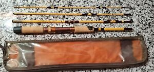 """NOS Eagle Claw Packit Spinning Fishing Travel 4 Piece Rod 5' 6"""" # PK200"""