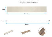4x 400mm Impulse Sealer Heat Wire Element & Teflon Tapes 4 Heat Sealing Machines