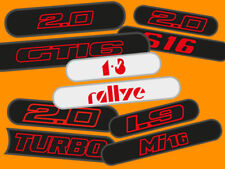 Peugeot 205 GTi6 S16 GTi5 MI16 2.0 2.1 Rallye Stickers Decal Red Vinyl Badges