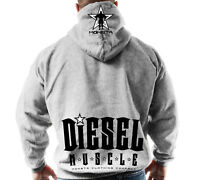 New Men's Monsta Clothing Fitness Gym Zipper Hoodie - Diesel Muscle