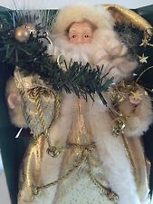 "RARE Fiber Optic 12"" Santa Christmas Tree or Table Top Decoration by Sterling"