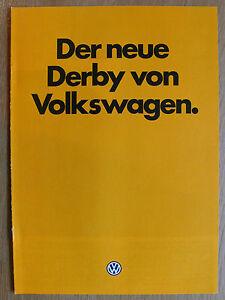 Prospekt Volkswagen Derby zur Premiere, 9.1981, 8 Seiten, enthält Farben/Polster