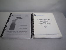 Genmark Automation Gencobot IV 4 GPR series Operations Service Reference Manuals