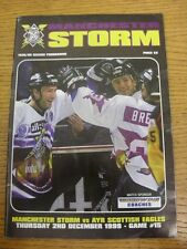 02/12/1999 programa de hockey sobre hielo: Manchester tormenta V Ayr Águilas escocés-juego 1