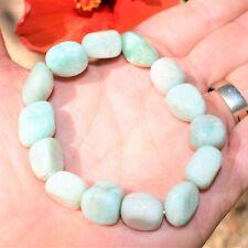 CHARGED Amazonite Crystal Bracelet Tumble Polished Stretchy REIKI Healing Energy