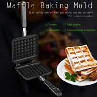 Household Kitchen Gas Non-Stick Waffle Maker Pan Mould Mold Press Plate Cooking