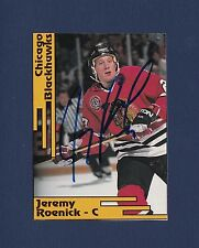 Jeremy Roenick signed Chicago Blackhawks 1992 SCD Pocket Price Guide hockey card