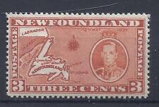 KANADA, NEUFUNDLAND, 1937 KGV1, 3d (KARTE) SG 258ec, MNH SINGLE, CAT