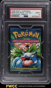 1999 Pokemon Base Set Foil Pack 1st Edition French Venusaur Florizarre PSA 9 MT