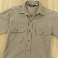 vtg usa made WOOLRICH chamois flannel shirt MEDIUM camp distressed