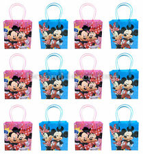 New Disney Mickey & Minnie Mouse Birthday Party Favors Goodie Bag 12pc Gift Bags