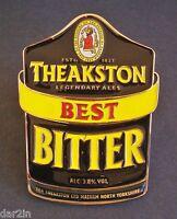 NEW THEAKSTON BEST BITTER 3.8% MASHAM BEER REAL ALE METAL PUMP CLIP PUB HOME BAR