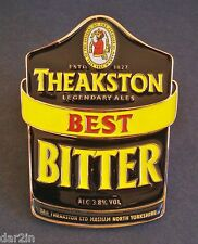 NEW THEAKSTON BEST BITTER 3.8% MASHAM BEER REAL ALE METAL PUMP CLIP PUB HOME BAR