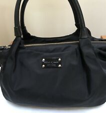 Kate Spade Nylon & Leather Satchel  W Side Grommets & Leather Ties, L