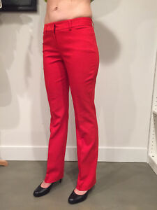 NWOT Women's Express Editor Boot Cut Slacks Suit Pants Red-Sz 4 Regular