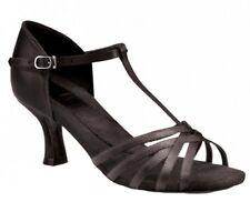 """Capezio Ashley: 2.0""""Black Satin Competitive Ballroom Dance Shoe Non-Returnable"""