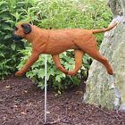 Bull Mastiff Outdoor Garden Sign Hand Painted Figure Red