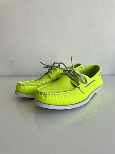 Sperry Top-Sider Cloud Collection Leather Boat 2 Eye Shoe (Neon Yellow) US 11