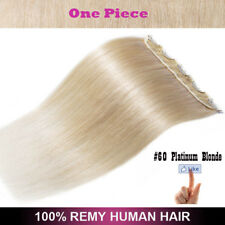 Glossy One Piece Clip in Real Remy Human Hair Extensions 3/4 Full Head Brown US