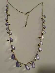 Vintage necklace made of mother of pearl and abalone gold tone