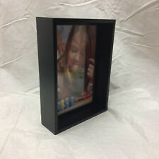 New Shadow Box Picture Frame 5 X 7 Black Wall Hanging Desk Accessory
