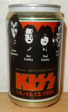 1996 KISS Concert PRAGUE Urquell Beer can from CZECH REPUBLIC (33cl)   Rare !!