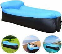 NEW Portable Inflatable Lounger Air Sofa Outdoor Mattress Mat Lazy Bed