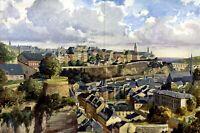 Blick auf Luxemburg XXL Kunstdruck 1912 von Rudolf Schulze Berlin