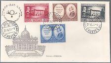 Vaticano FDC 1957 CENTENARIO COLLEGIO CAPRANICA  Ed. ARIMINUM - CAPITOLIUM 4V.