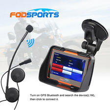Waterproof Motercycle GPS SAT NAV UK/Europe Maps Navigation w/ Bluetooth Headest