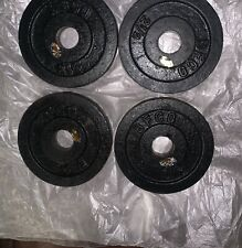 """FOUR 2 1/2 lb BFCO WEIGHTS standard size 1""""  2.5lb ea."""