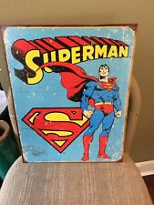 "Large 16 x 13 Vintage Tin Sign ""SUPERMAN RETRO SIGN "" New"
