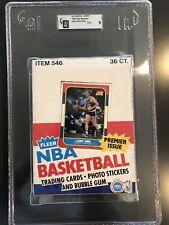 Empty 1986 Fleer Basketball Wax Box Collector Gem 100% Authentic PSA GAI 9 MINT