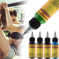 12 Colors Eternal Tattoo Ink Set Pigment Bottle Permanent Makeup Art 30ml
