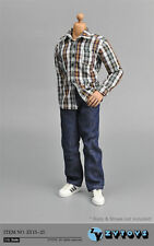 """1/6 Male Clothes ZY Toys Brown&White Shirt Jeans Pants Fit 12"""" Man Action Figure"""