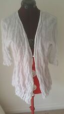 SIZE 12 - SIZE 14 WOMEN'S PEARL COLOR 1/2 SLEEVE 'MARCO POLO' CARDIGAN BNWT