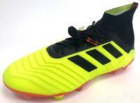 NEW Mens Adidas Predator 18.1 FG Yellow Orange Soccer Cleats w/ Box & Bag