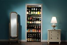 Door Mural Fridge Full Of Beers View Wall Stickers Decal Wallpaper 95
