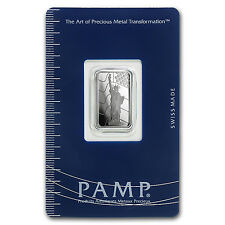 5 gram Platinum Bar - PAMP Suisse Statue of Liberty (In Assay) - SKU #93595