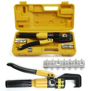 Tube Terminals Lugs Hydraulic Crimper Tool Kit Battery Cable Wire UK   8T